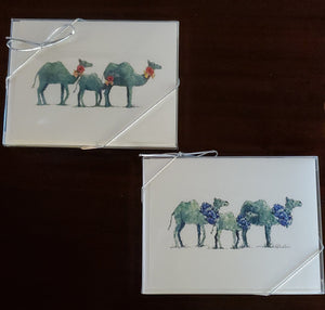 Whimsical Camel Notecards-Red