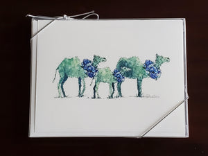 Open image in slideshow, Whimsical Camel Notecards-Purple