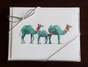 Open image in slideshow, Whimsical Camel Notecards-Red