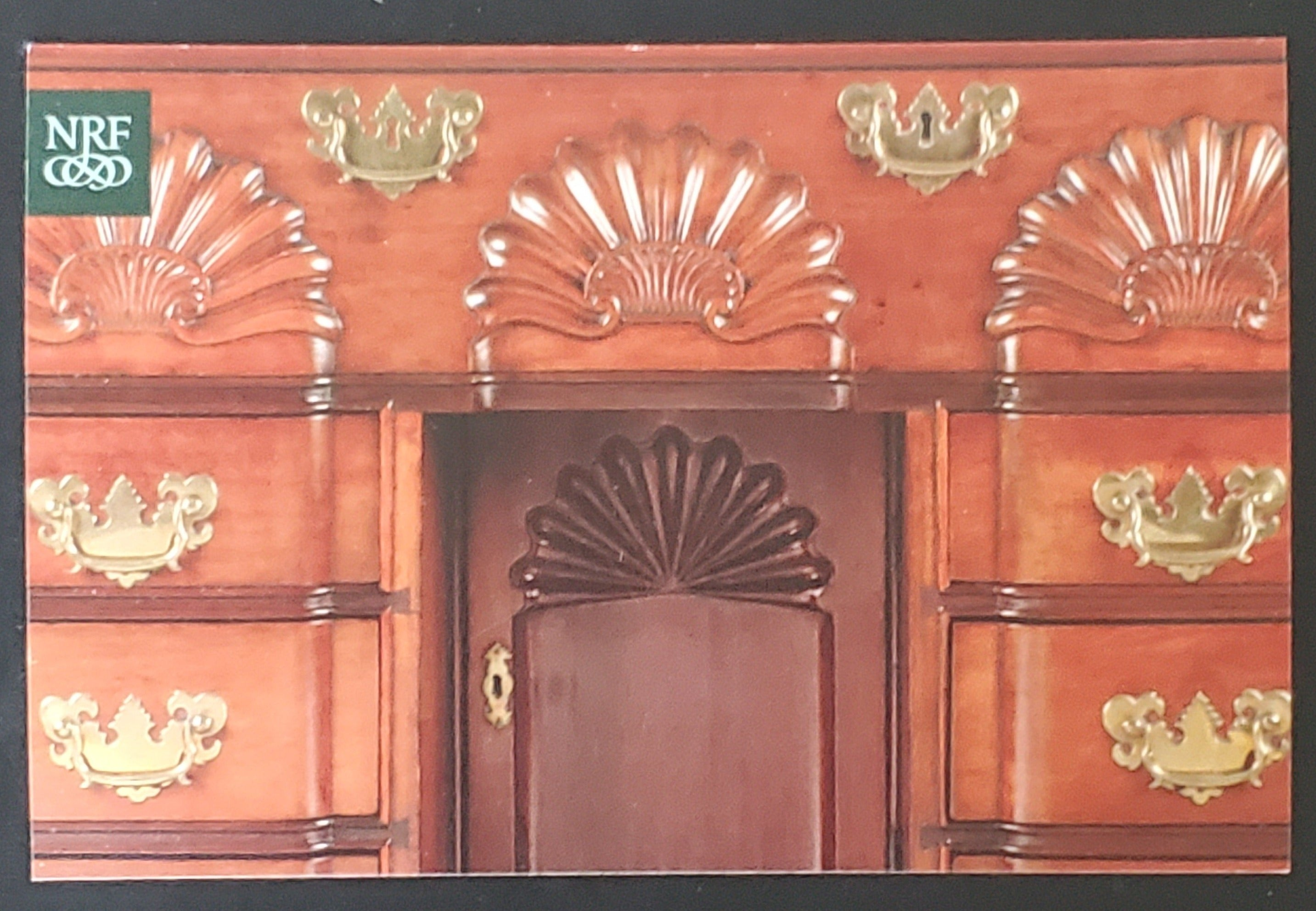 Block-and-Shell-Front Bureau Dressing Table Postcard