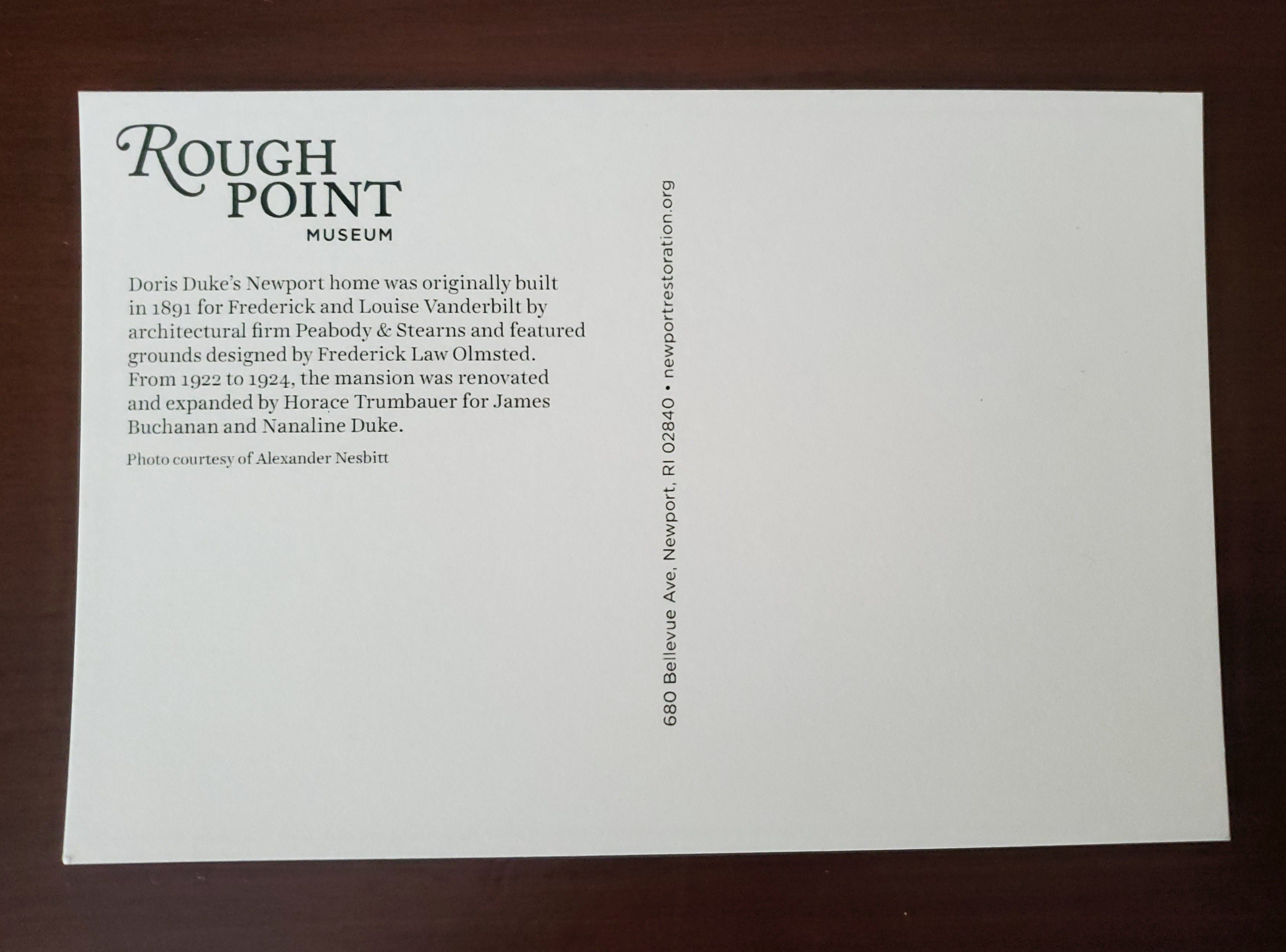 Rough Point Postcard
