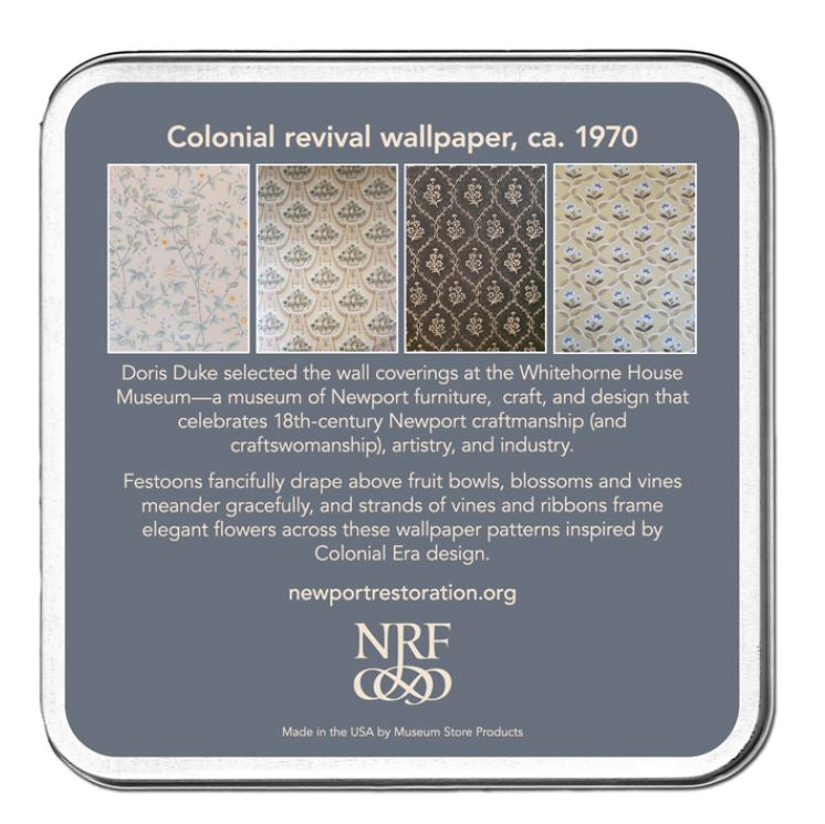 Colonial Revival Wallpaper Set of Four Coasters