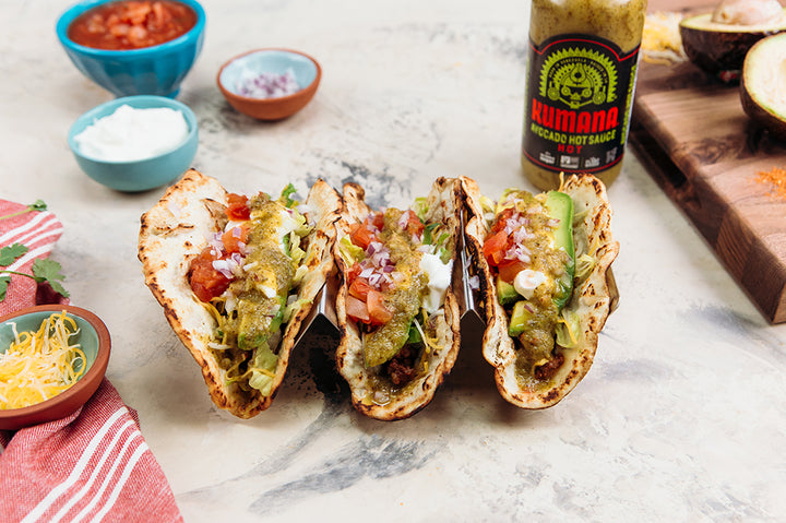 Tacos with Avo Sauce