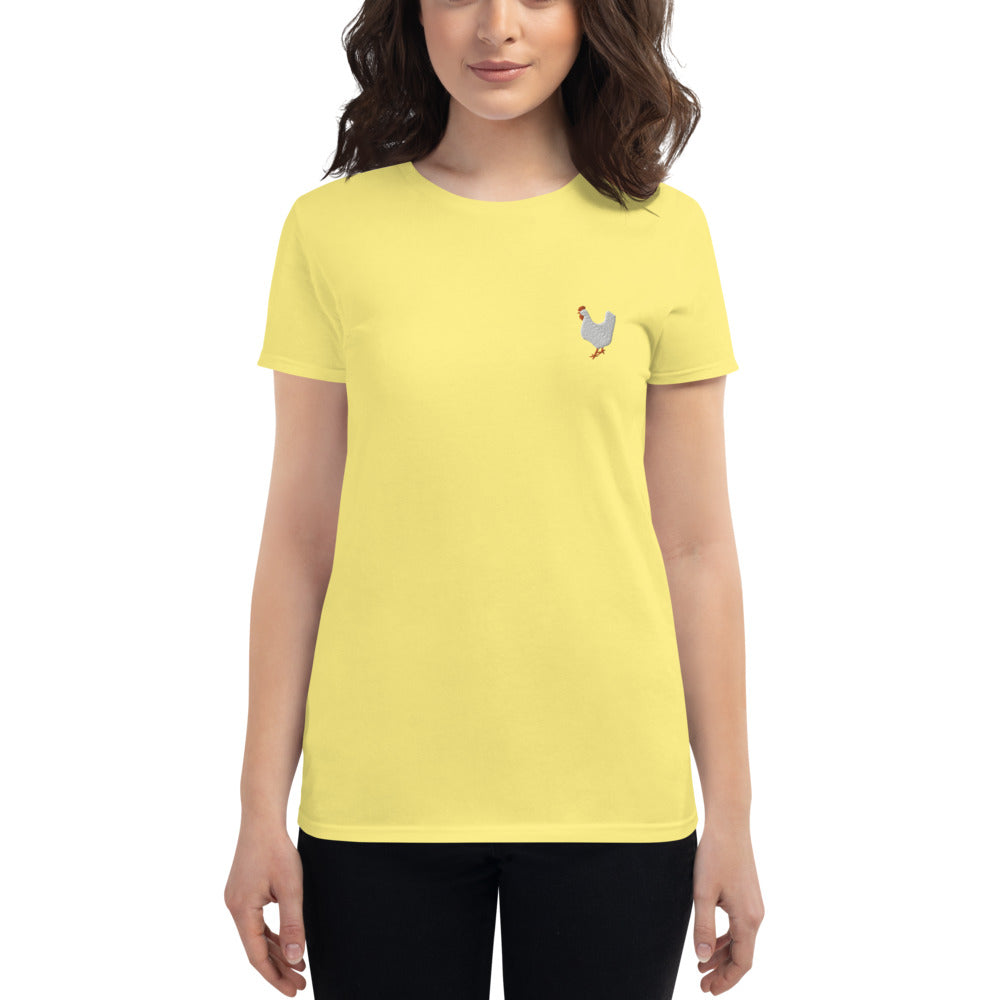 Women's embroidered T-shirt - Chicken