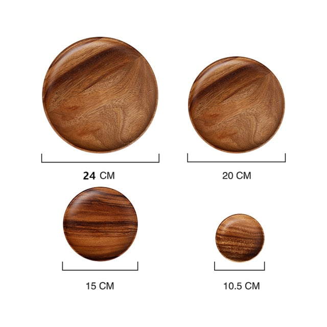 Natural Wooden Plates