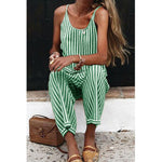 Load image into Gallery viewer, Fun Striped Jumpsuit