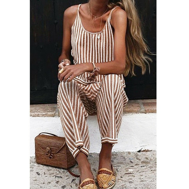Fun Striped Jumpsuit