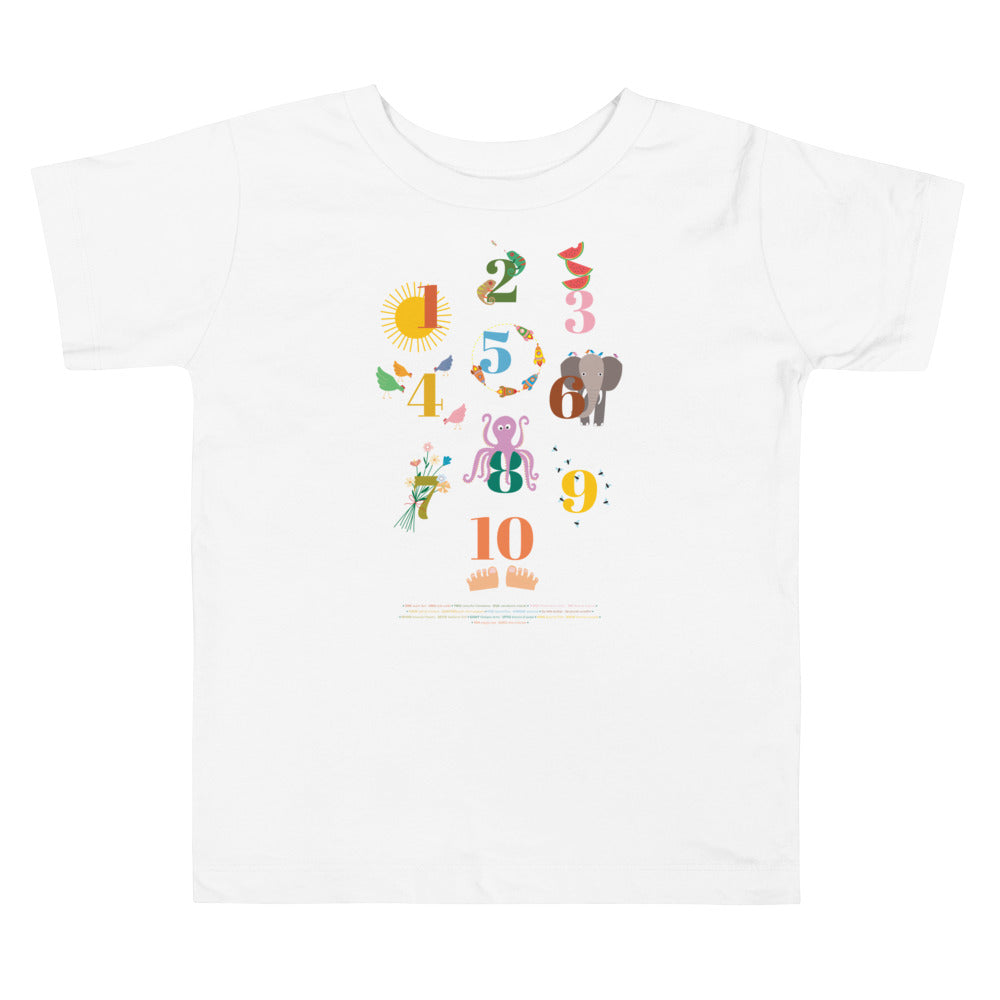 Toddler Short Sleeve NUMBERS Tee