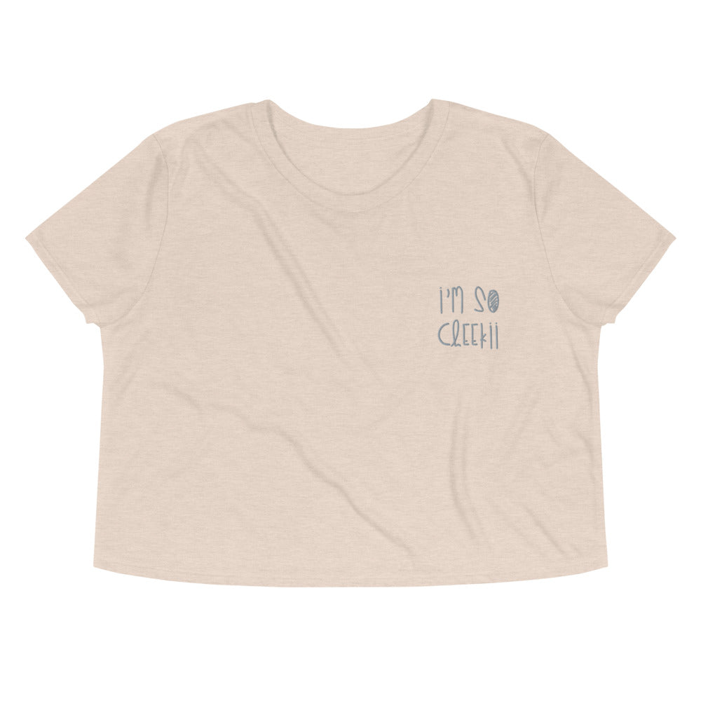 Im So Cheekii Word Crop Tee