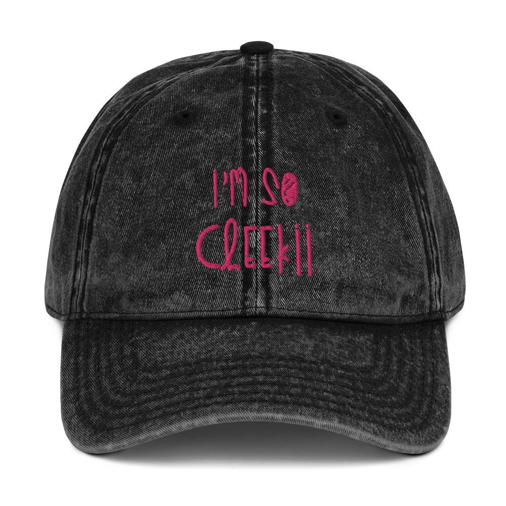 Im So Cheekii Vintage Cotton Twill Cap
