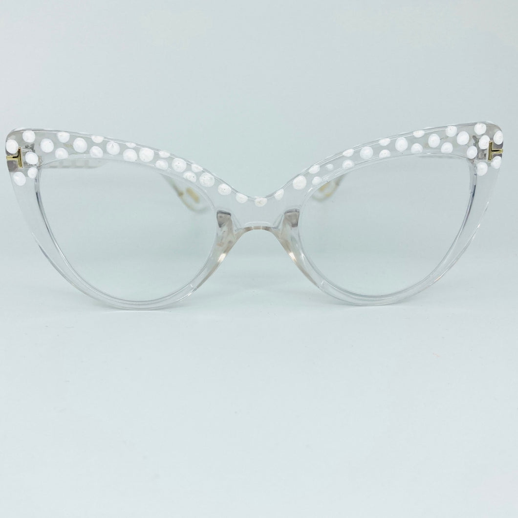 White Dot Crystal Cat Eye