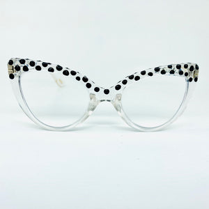Black Dot Crystal Cat Eye