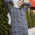 Cap Buttoned Grey - 8605
