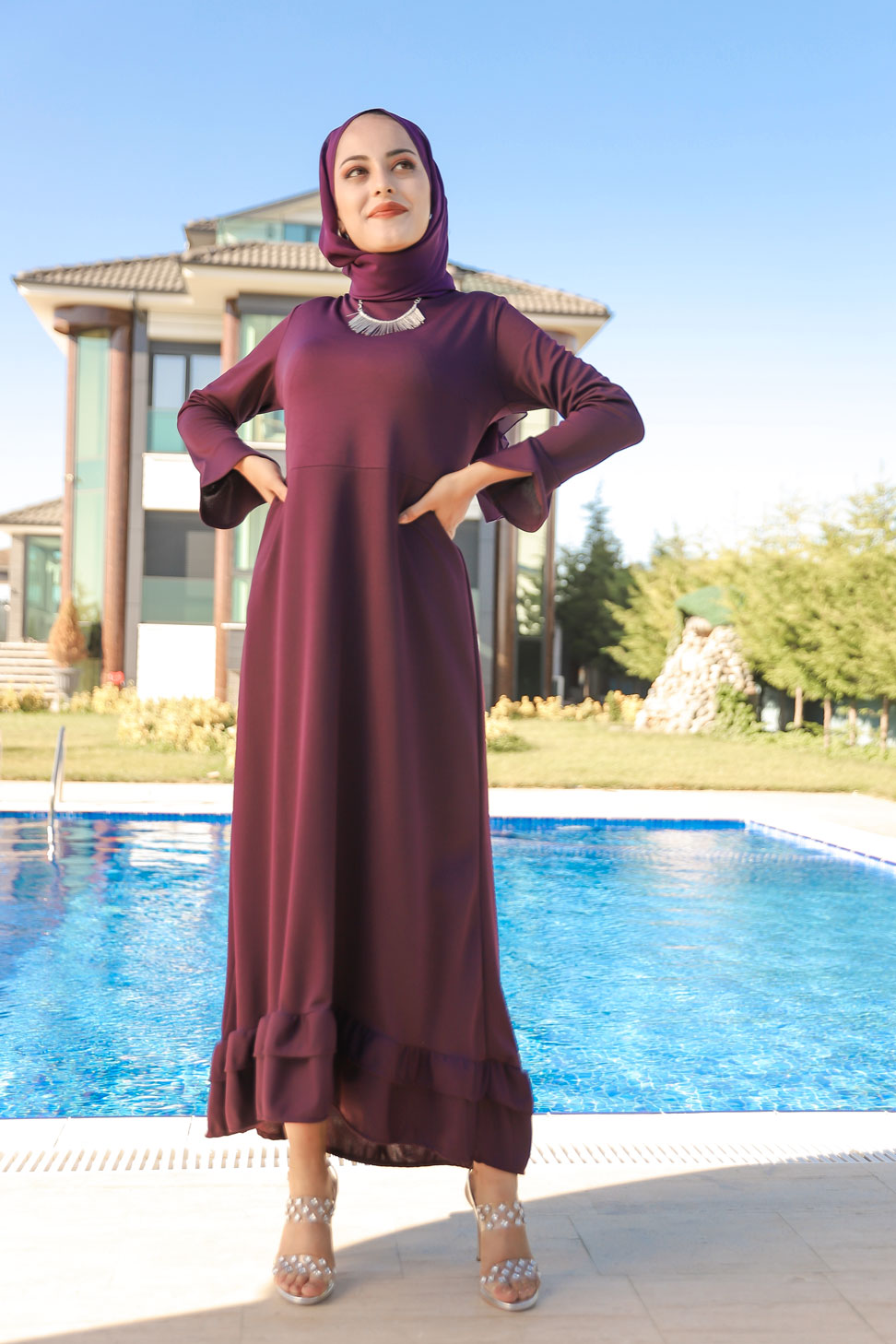 Dress Dark Purple - 1363