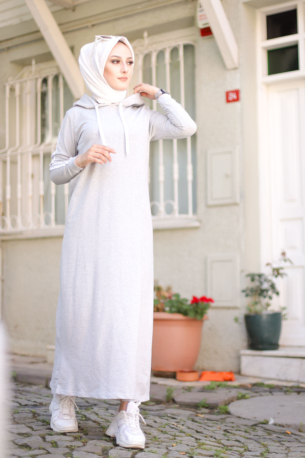 Dress Hooded Grey - 3227