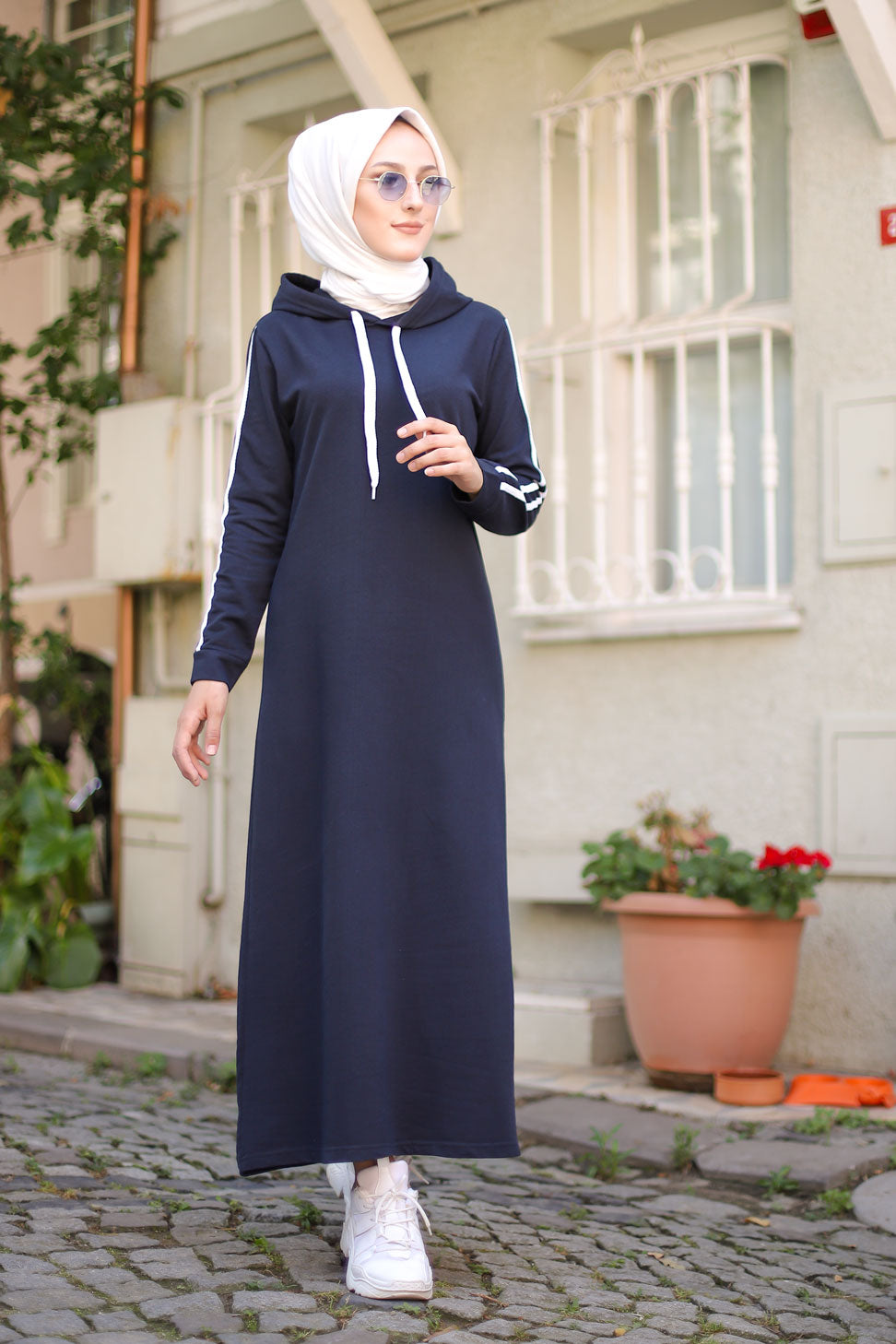 Dress Hooded Navy Blue - 3227