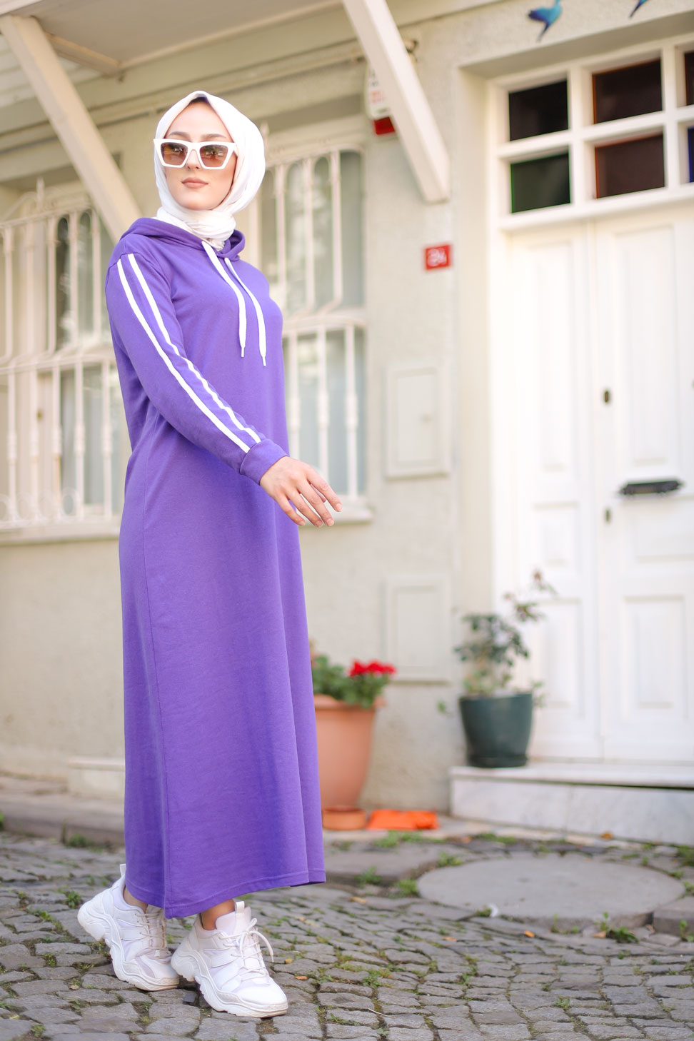 Dress Hooded Purple - 3227