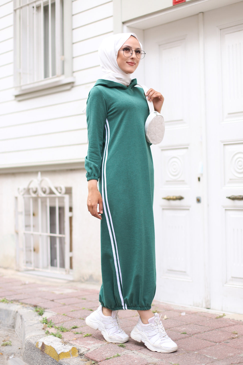 Hooded Dress Emerald - 5257
