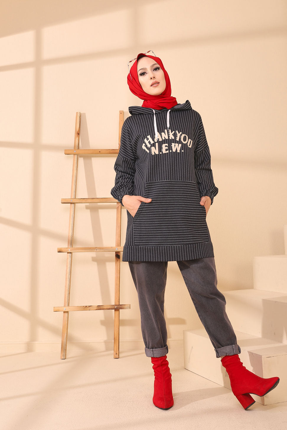 Hooded Tunic Anthracite - 4162