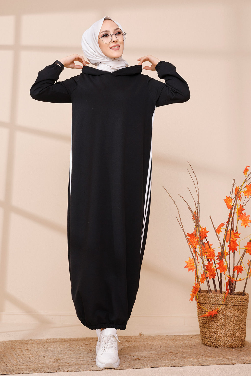 Hooded Tunic Black - 5257