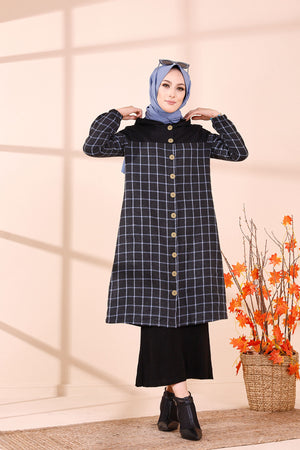 Hooded Tunic Blue - 8609