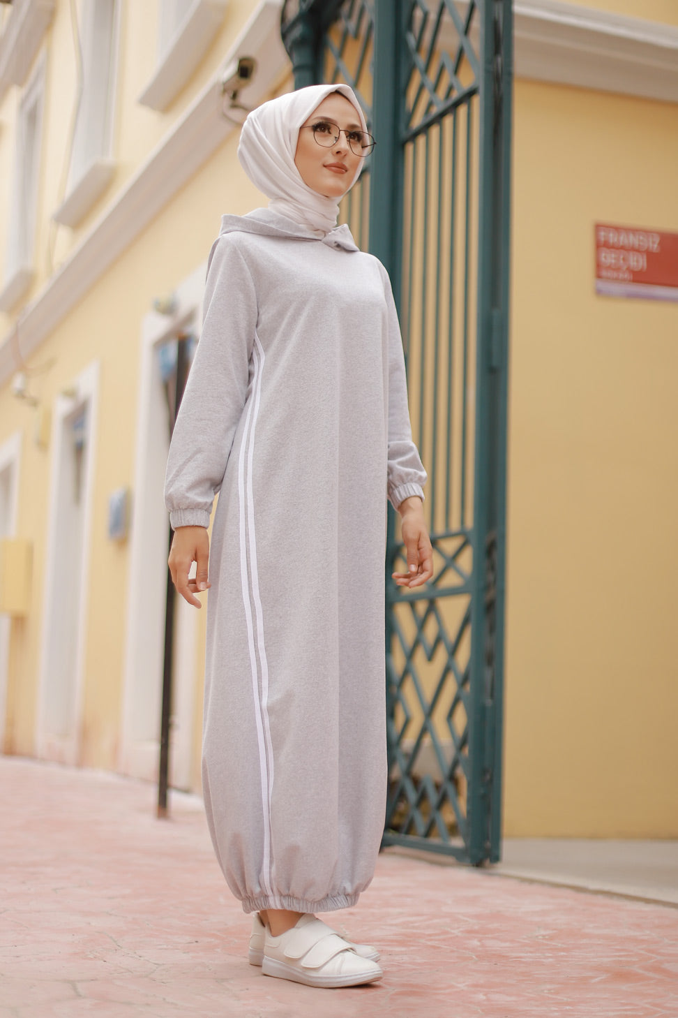 Hooded Tunic Grey - 5257