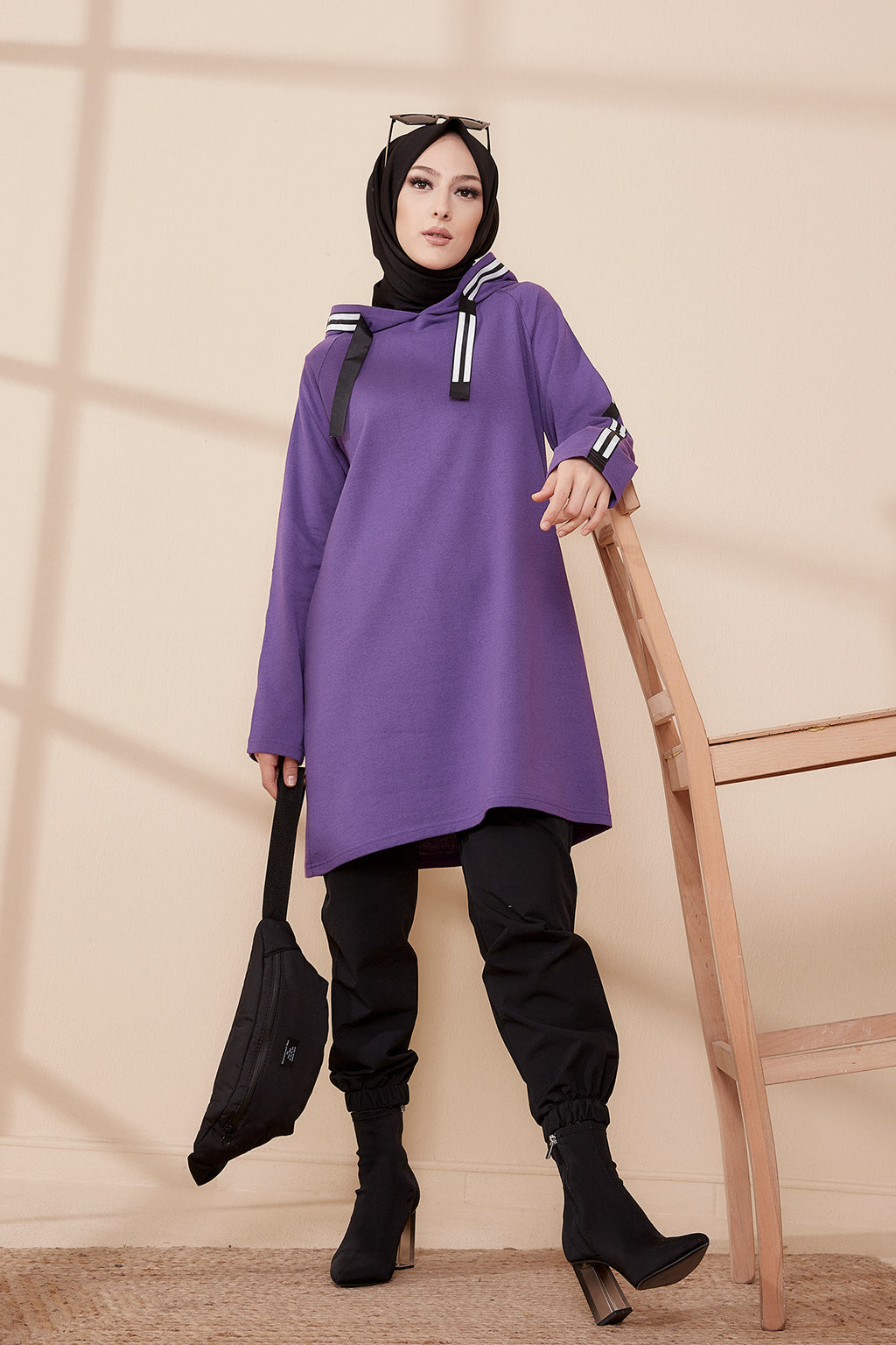 Hooded Tunic Purple - 8358