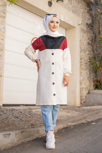 Kapşonlu Tunik Bordo - 3063