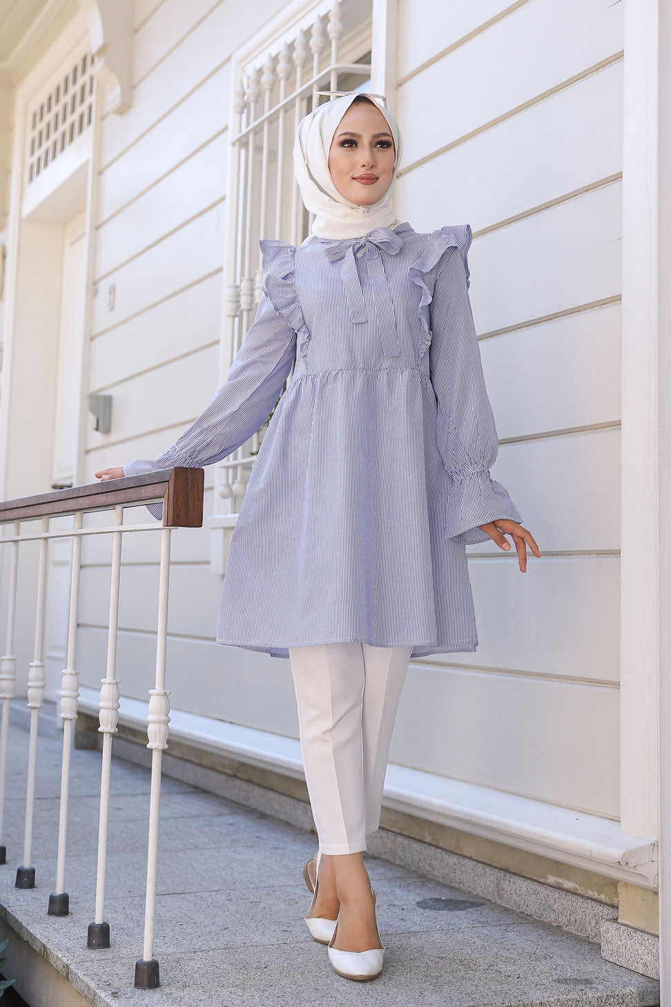 Striped Tunic Blue - 3232