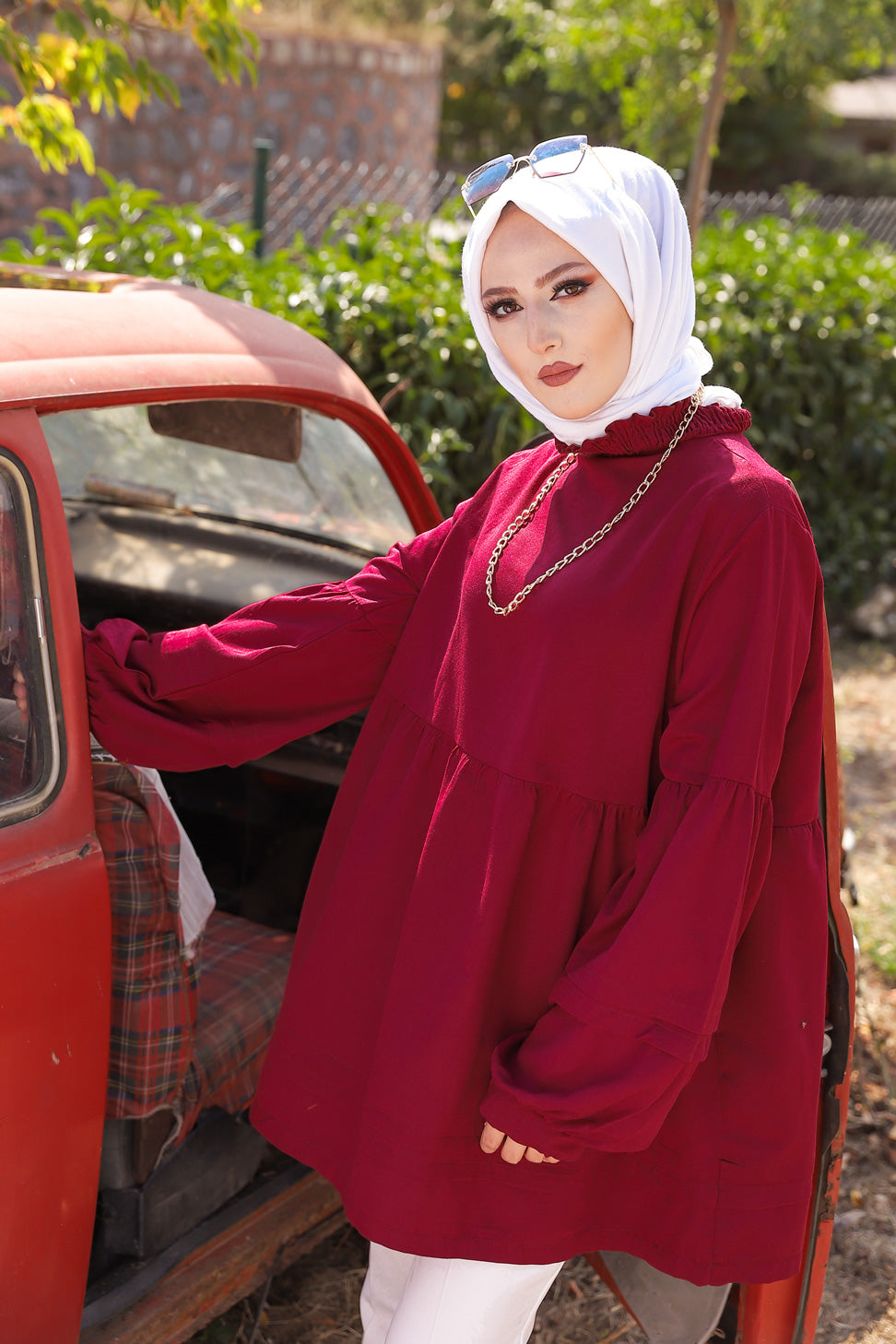 Tunic Dark Claret Red - 3079