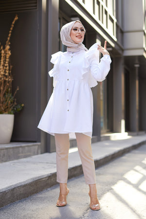 Tunic Frilly White - 3126