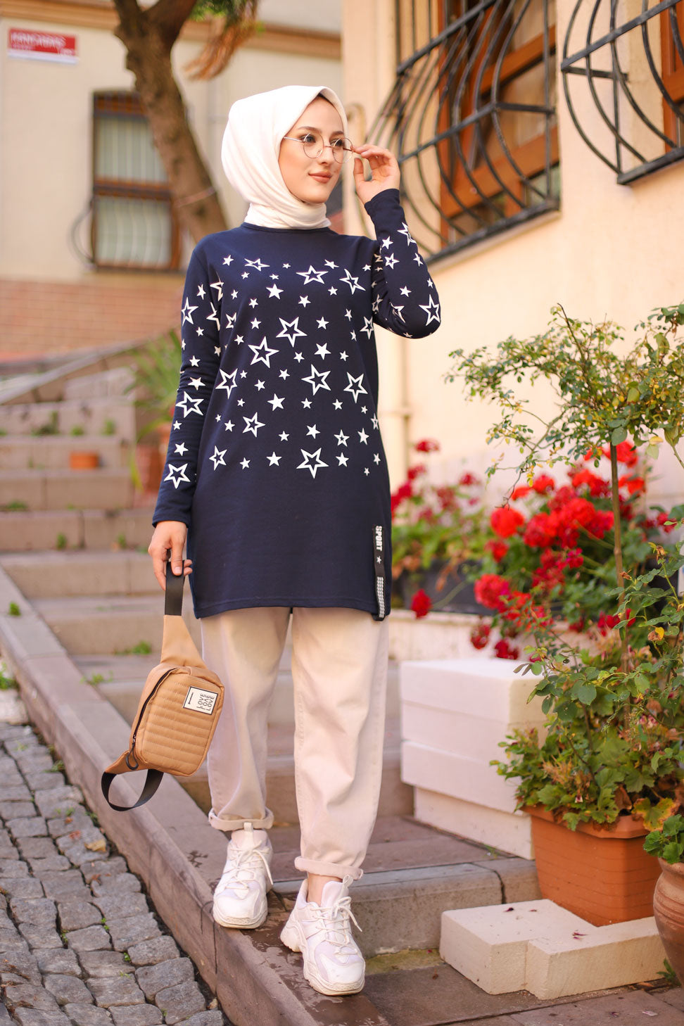 Tunic Star Printed Black - 8385