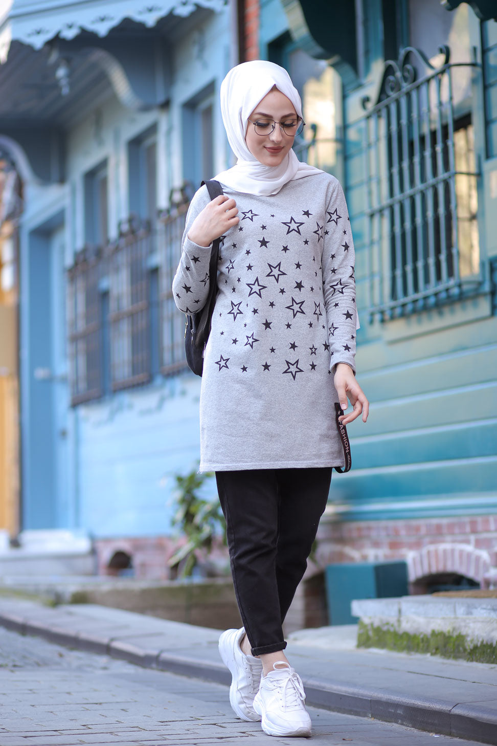 Tunic Star Printed Grey - 8385