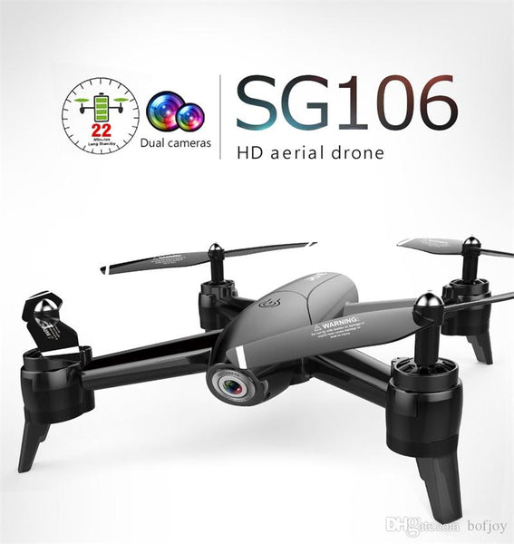 SG106 UAV 22mins 1080P/4K Flight RC Drone - RTF Optical Flow / Altitude Hold HD Dual Cameras Gesture Photo RC Helicopter