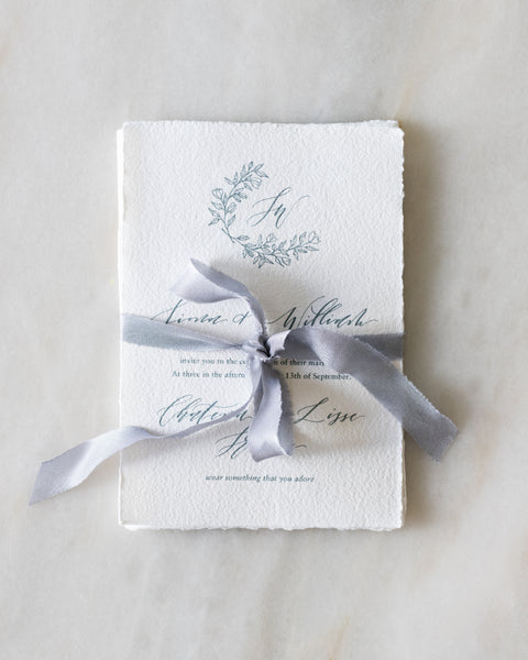 How To Tie An Invitation Wrap