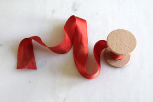 Sedona, sandstone red silk ribbon