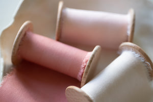 Rose Pink Bamboo Ribbon
