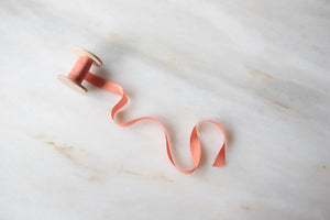 Coral, pink silk ribbon