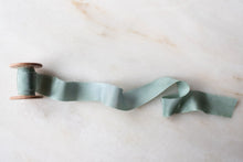 Load image into Gallery viewer, Seaglass, blue-green silk ribbon