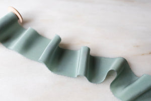 Seaglass, blue-green crepe de chine