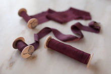 Load image into Gallery viewer, Merlot silk ribbon