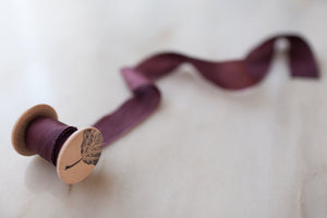 Merlot silk ribbon