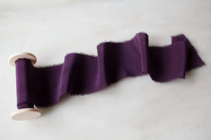 Maeve, violet silk ribbon