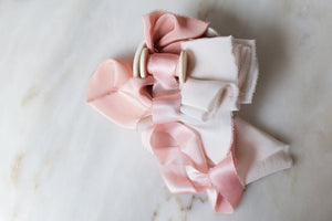 'Blushing' Rose Ribbon Bundle