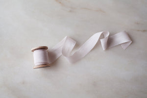 Pale Rose, pink silk ribbon