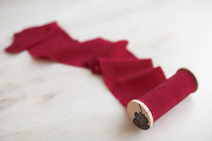 Crimson, red silk crepe de chine