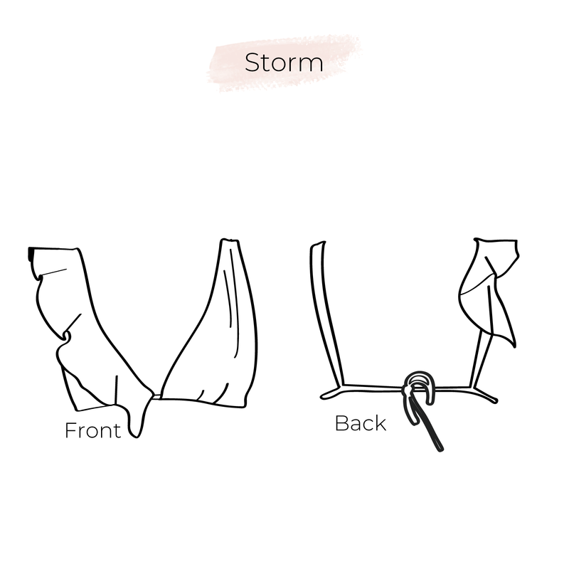 Bikini pattern top Storm 3 in 1