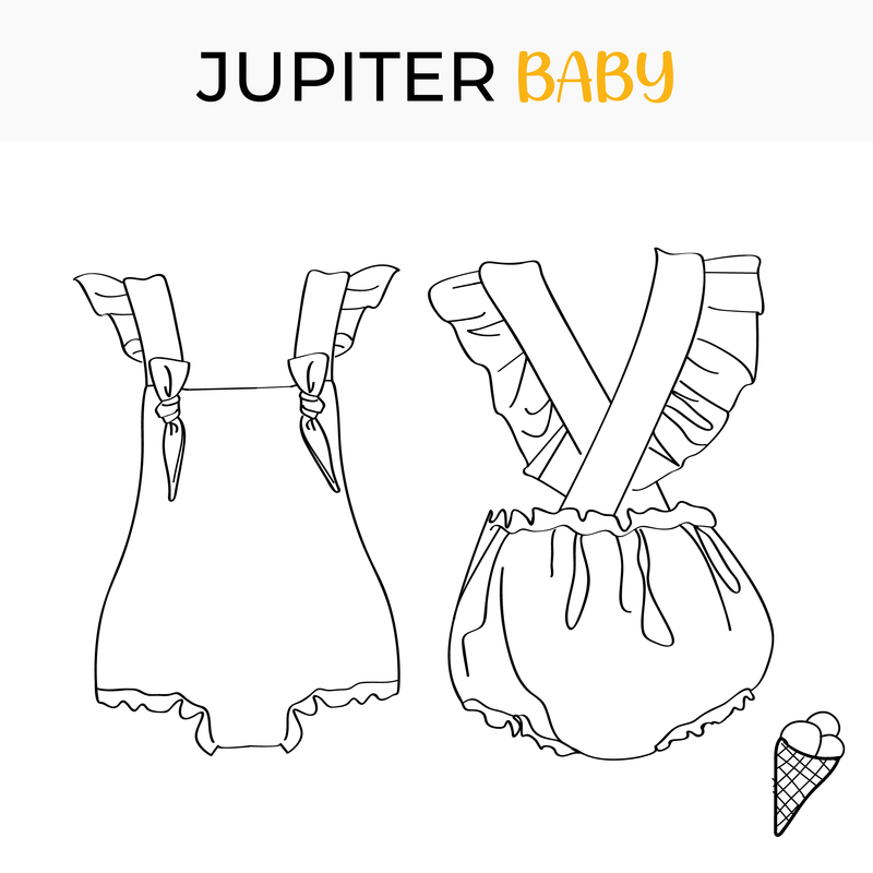 Baby swimsuit pattern Jupiter