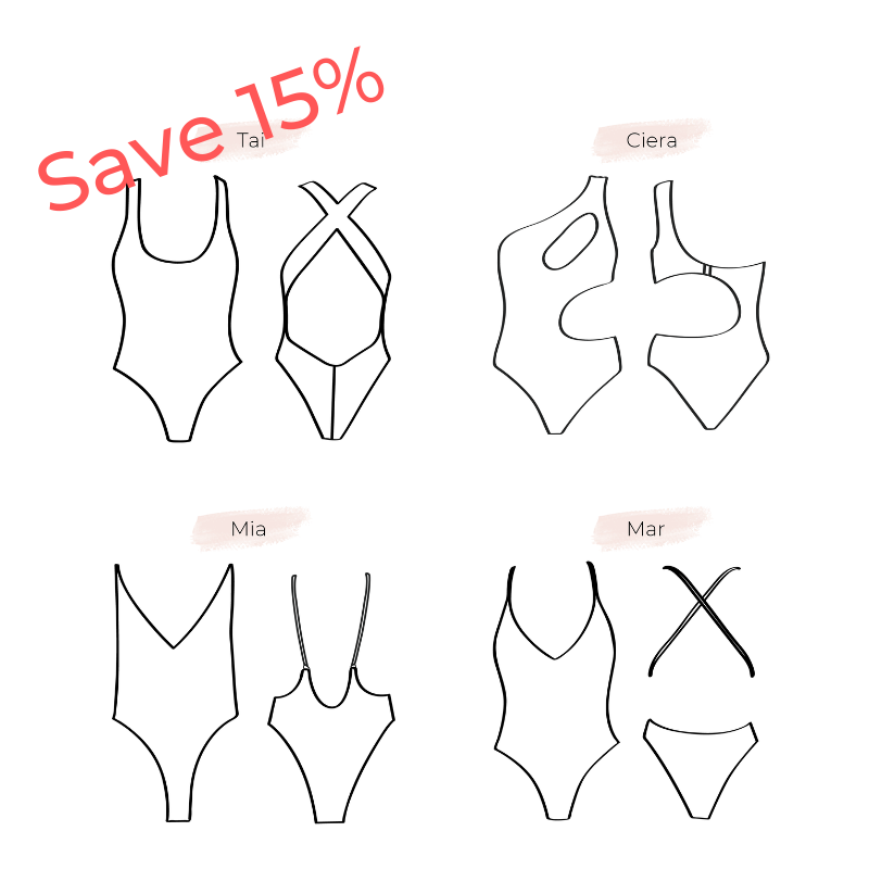 BUNDLE Swimsuits patterns