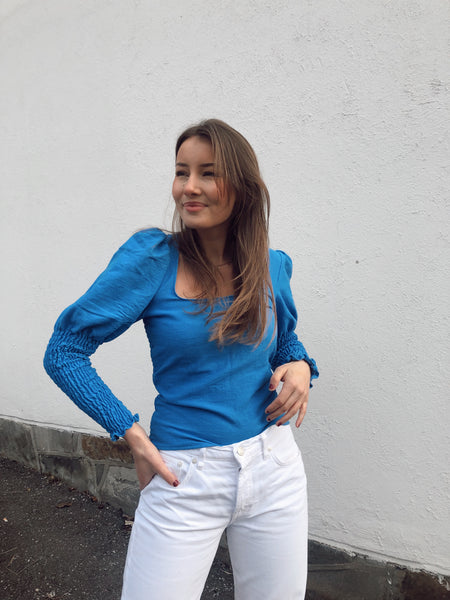 HEDDA BLOUSE IN BLUE